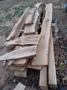 solid oak beams and flooring